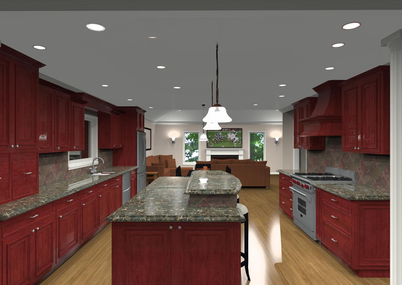 Different Island Shapes For Kitchen Designs And Remodeling - Kitchen island with seating for 2