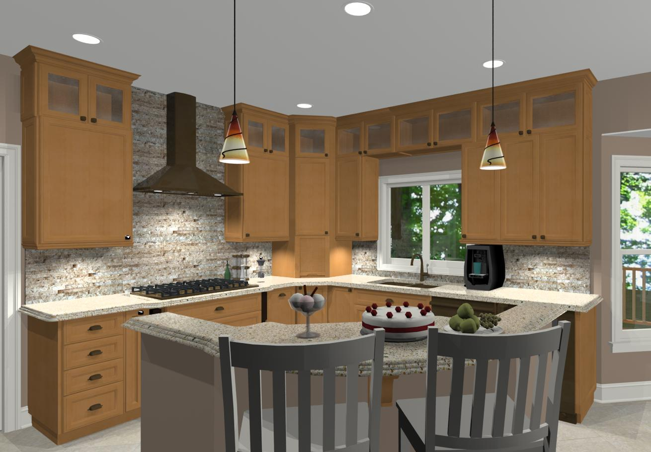 Different island shapes for kitchen designs and remodeling for Different kitchen design ideas