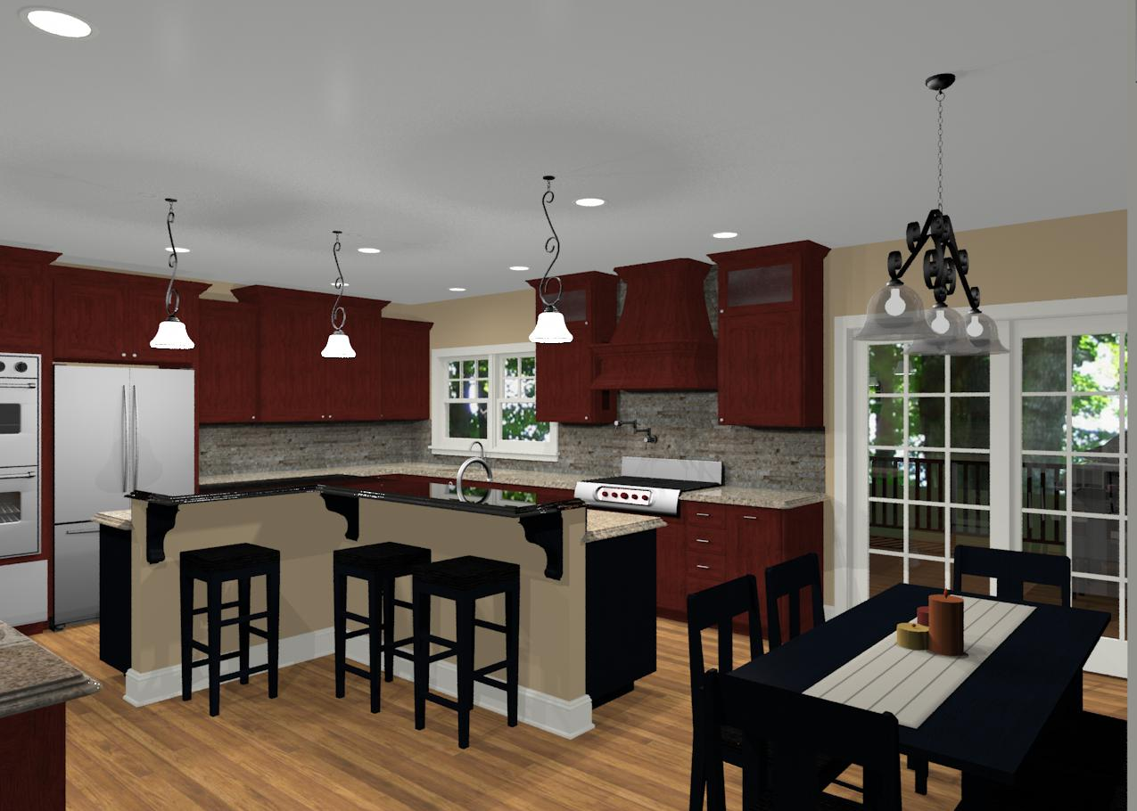 Different island shapes for kitchen designs and remodeling for Different shaped kitchen island designs with seating
