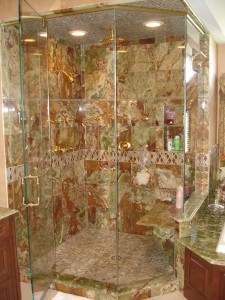 Tile And Glass Doors For A Steam Shower Design Build