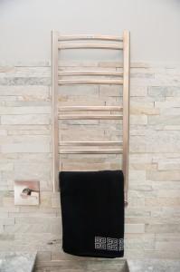 Towel warmer from Design Build Planners - heated towel rack
