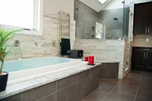 spa style contemporary bathroom in Morris County New Jersey (3)