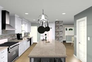 computer designs for kitchen remodel - elevation views (5)