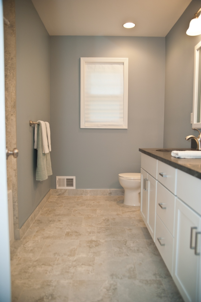 Master bathroom remodel with redesign and hall bathroom makeover - Bathroom design nj ...