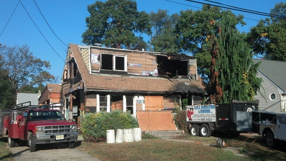 Fire Damaged Home Rebuilt As New Home In Monmouth County Nj