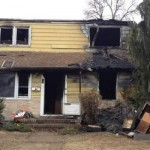 fire damaged home in West Keansburg, NJ 07734