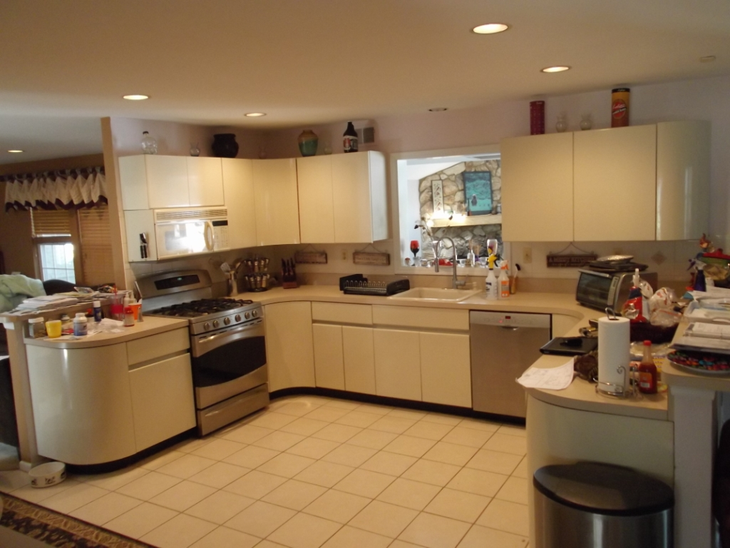 Modern kitchen and great room remodel morris county nj for Kitchen kitchen