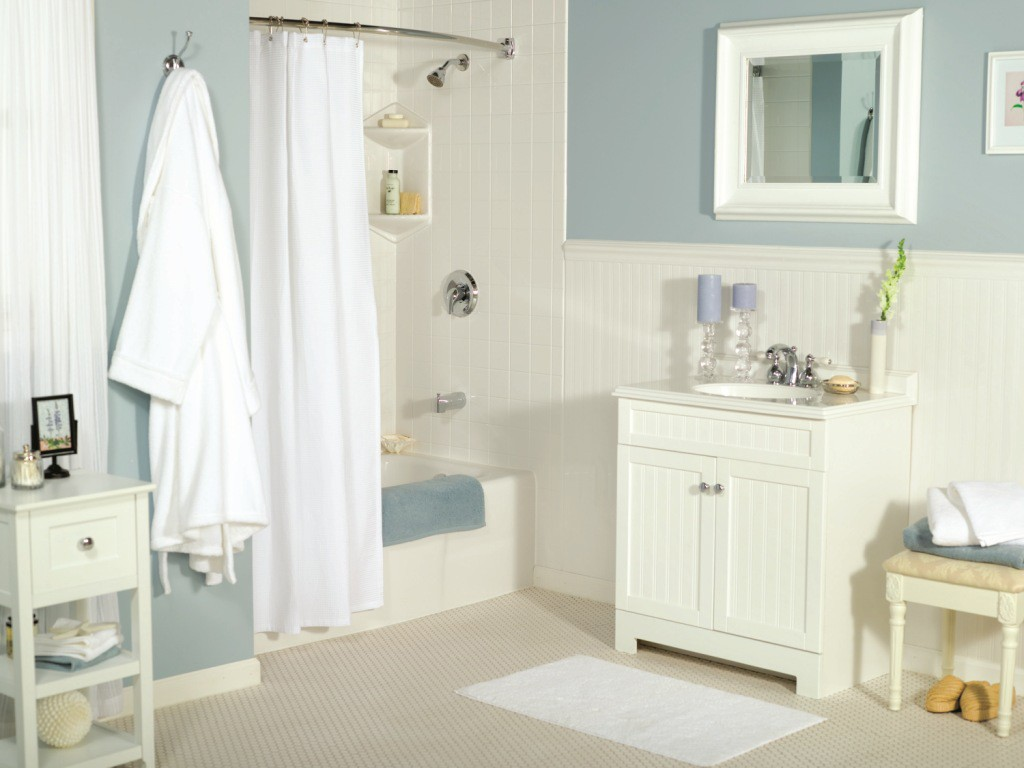 One day bathroom makeovers and remodeling in new jersey - Bathroom remodel ideas with wainscoting ...