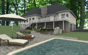 Computer Aided Design (CAD) for a Millstone NJ remodeling project ~ Design Build Pros