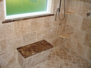 Bench seat in shower - Design Build Planners