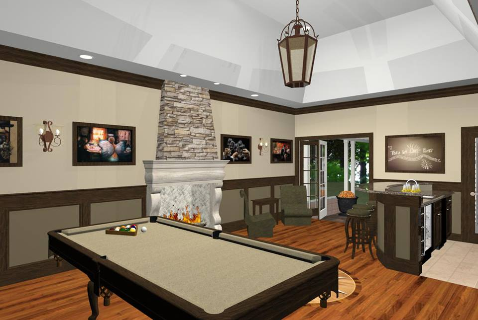 Designs Remodeling: Bonus Room Designs With Fireplace, Wet Bar, And Wine Room