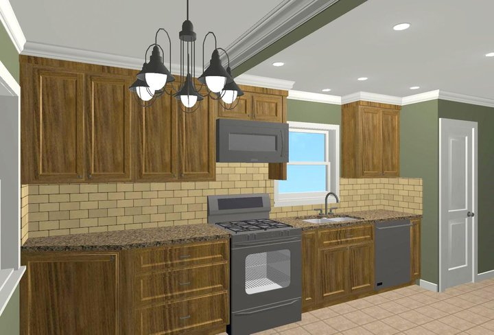 Kitchen remodeling and design for colonial homes in nj Kitchen design colonial home