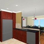 Colonial Home Kitchen Remodel Design 3a