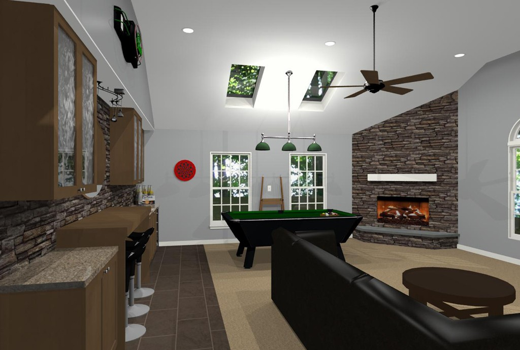 Morris County Kitchen Remodeling And Game Room