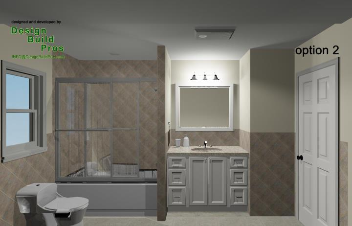 Bathroom Remodeling Options standard hall bathroom remodeling design options - design build pros