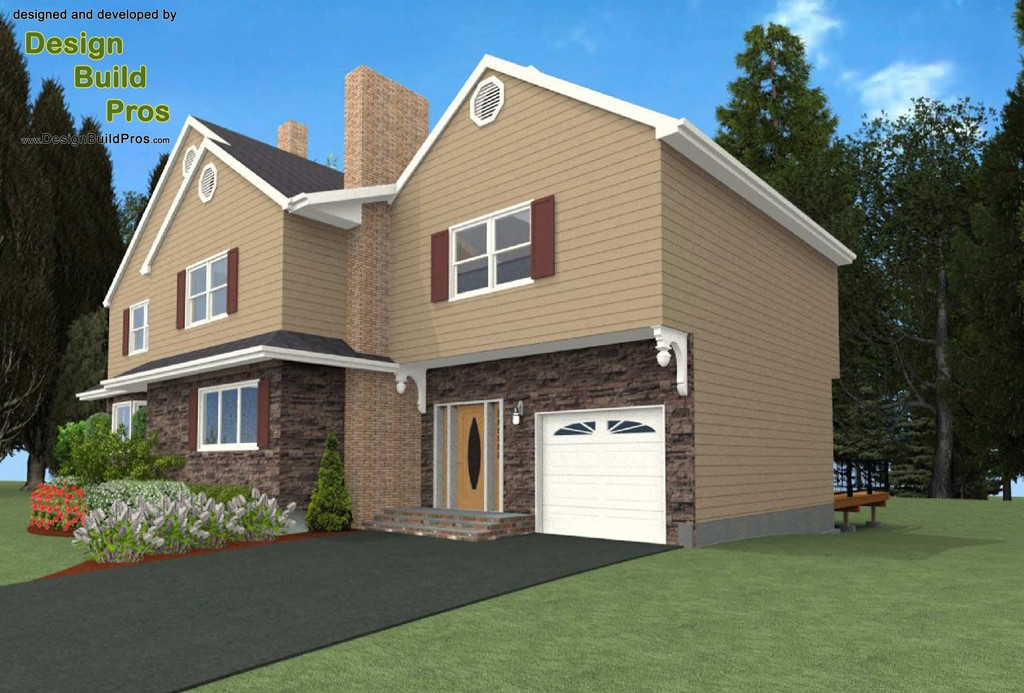 Full add a level addition and exterior makeover in bergen county nj for Free virtual exterior home makeover