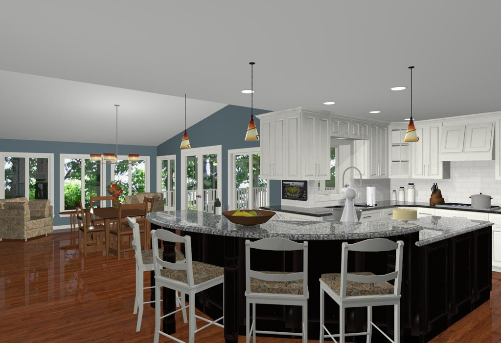 Gorgeous Kitchen Renovation In Potomac Maryland: Design Build Addition CAD Views For Remodeling Ideas And