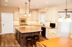 Kitchen remodel with oil-rubbed bronze appliances