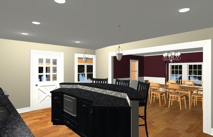 Large Family Kitchen and Island Design Options – Kitchen with an Island