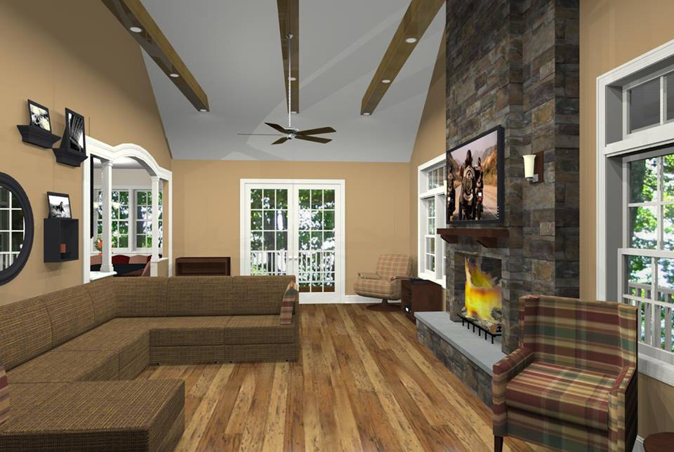 How to budget for your monmouth county family room for Family room addition pictures