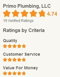 Primo Plumbing Home Advisor rating