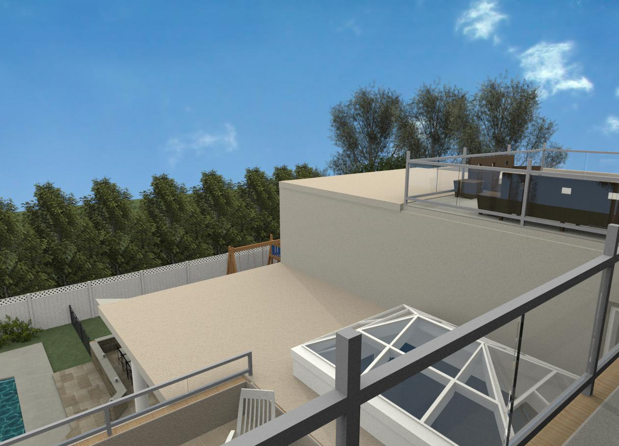 100 house plans with roof deck terrace deck for Terrace roof design philippines