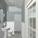 Three Fixture Bathroom Remodel Plan 1A