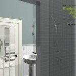Three Fixture Bathroom Remodel Plan 1B