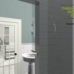 Three Fixture Bathroom Remodel Plan 1B