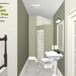 Three Fixture Bathroom Remodel Plan 2A