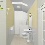 Three Fixture Bathroom Remodel Plan 3A