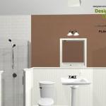 Three Fixture Bathroom Remodel Plan 4A