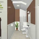 Three Fixture Bathroom Remodel Plan 4B