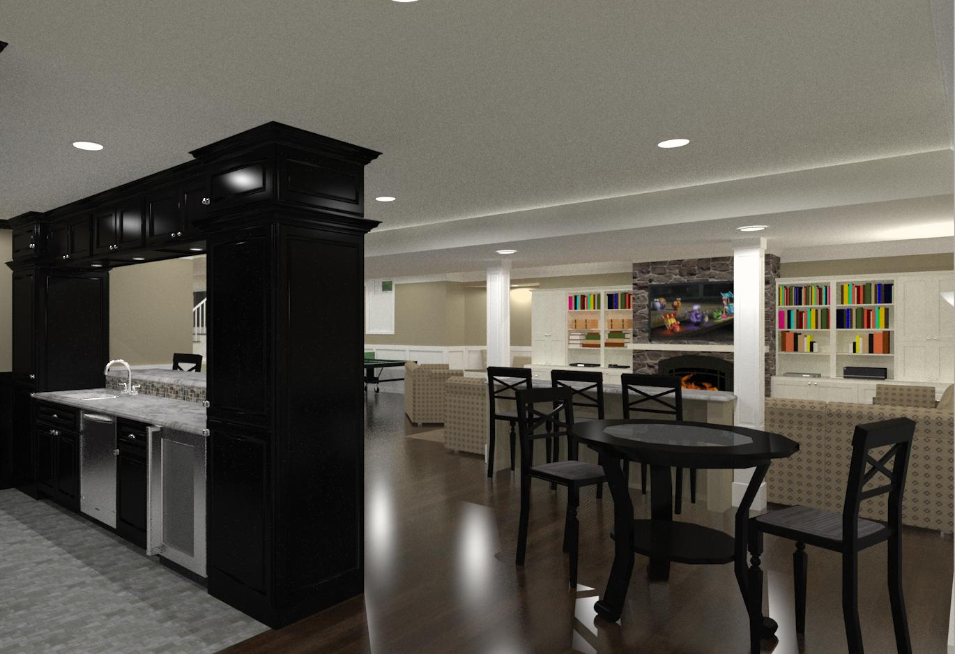 Basement Finishing And Remodeling Designs In Morris County