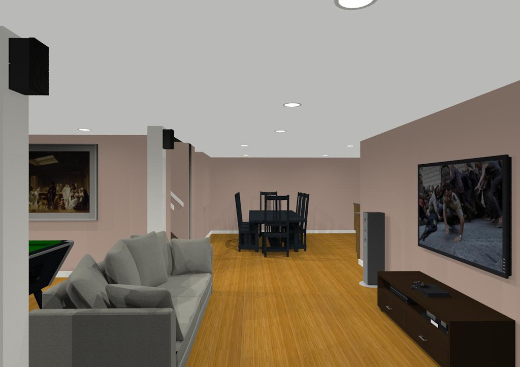 Design Ideas For Basement Remodeling With Game Room And Kitchen Custom Basement Remodeling Designs Ideas Property