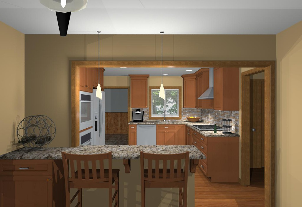 ... Computer Aided Design Of Planned Kitchen Remodel (1) ...