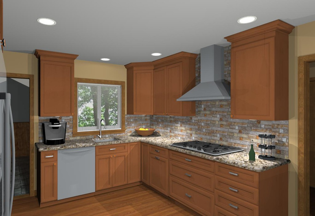 Nice Basic Kitchen Remodel #2: ... Computer Aided Design Of Planned Kitchen Remodel (2) ...