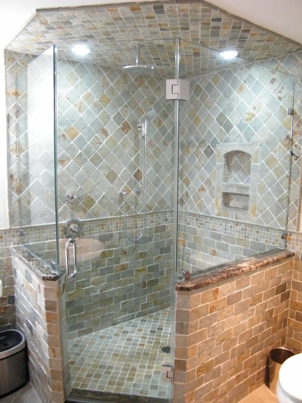 Custom Glass Shower Door and Bathroom Remodeling Idea ...