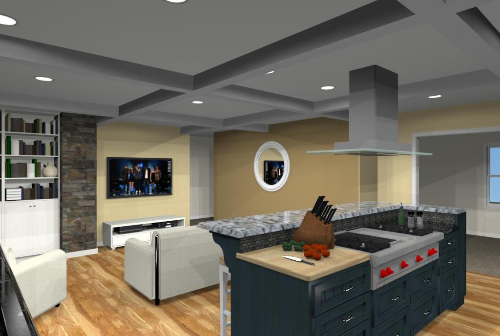 ... Kitchen Design With Open Floor Plan To Family Room Eatontown, ...