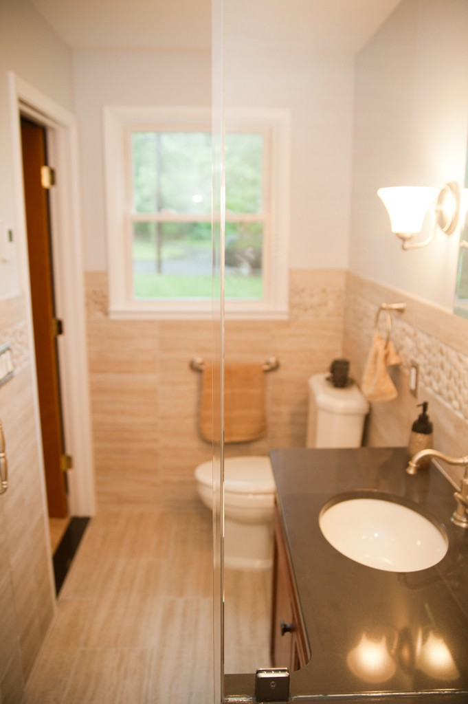 beige bathroom remodel somerset county kitchen and bathroom remodel proskill construction