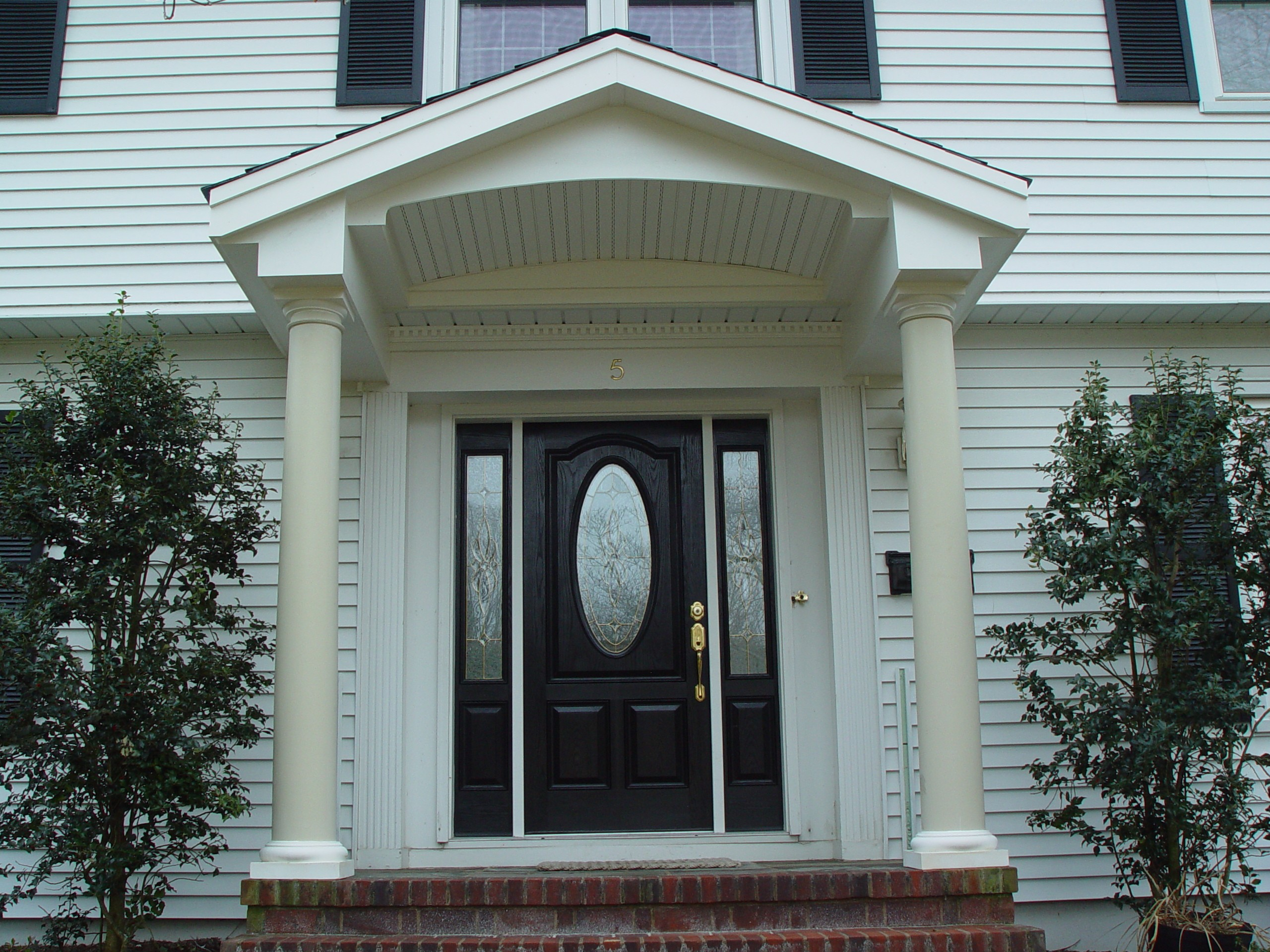 Front entry portico remodeling projects in new jersey for Front exterior home designs
