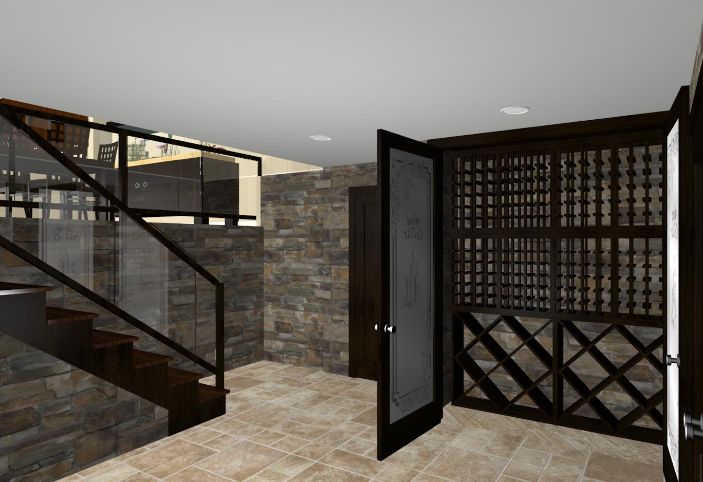 Custom wine cellar design and build from design build planners for Wine cellar plans