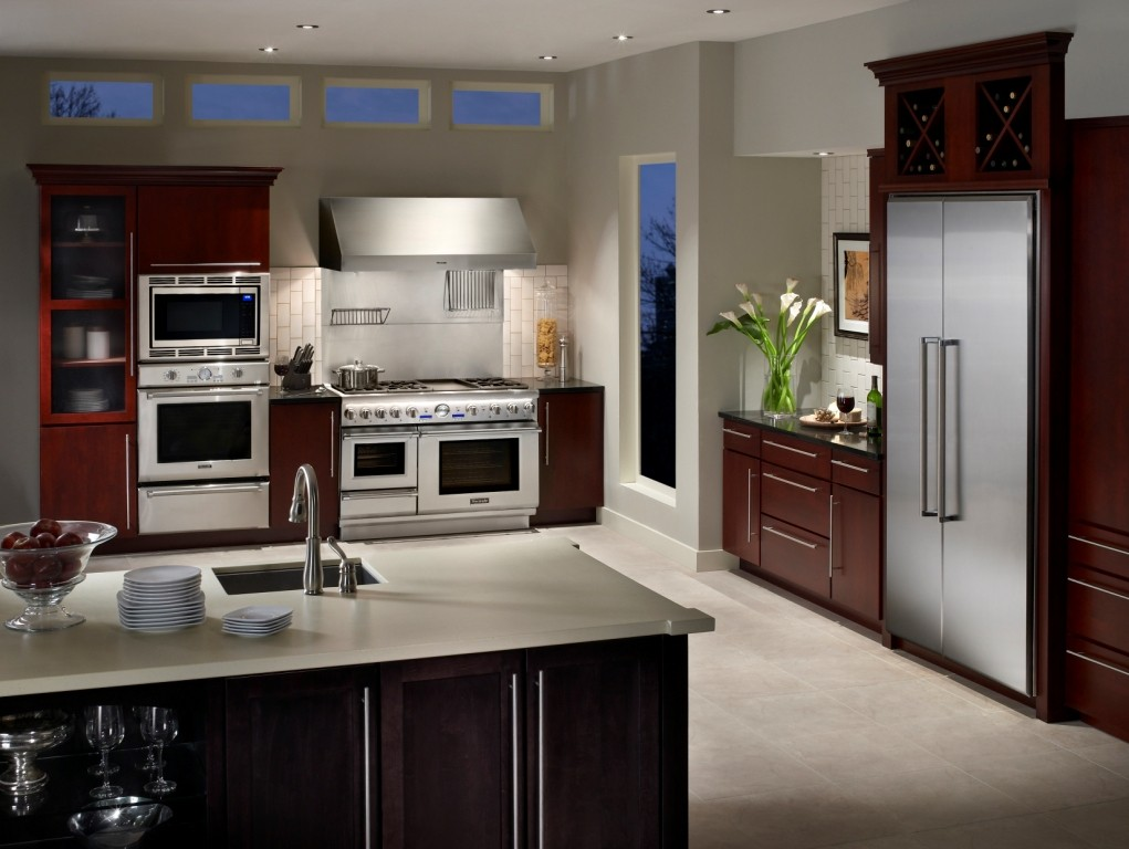 Nj kitchen remodeling with thermador appliances design for Kitchen appliance layout ideas
