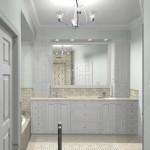 New Jersey master bathroom remodeling design option - Plan 1 (3)