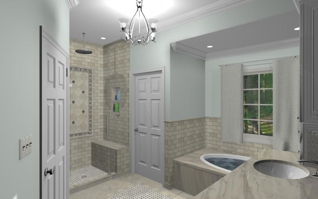 Bathroom Remodeling Options master bathroom design options - plan 1 - design build pros