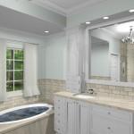 New Jersey master bathroom remodeling design option - Plan 1 (7)
