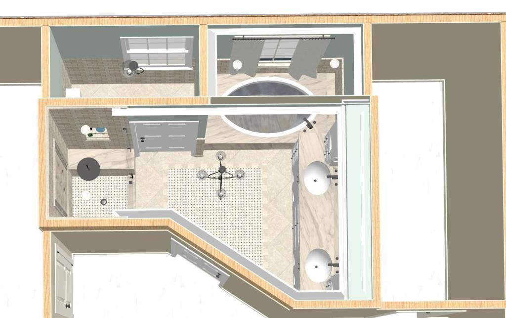 Master Bathroom Design Options Plan 1 Design Build Pros