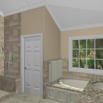 New Jersey master bathroom remodeling design option - Plan 2 (3)