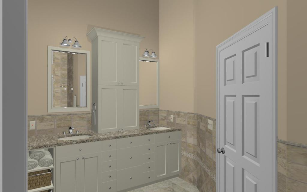 Master bathroom design options plan 2 design build pros - Bathroom design nj ...