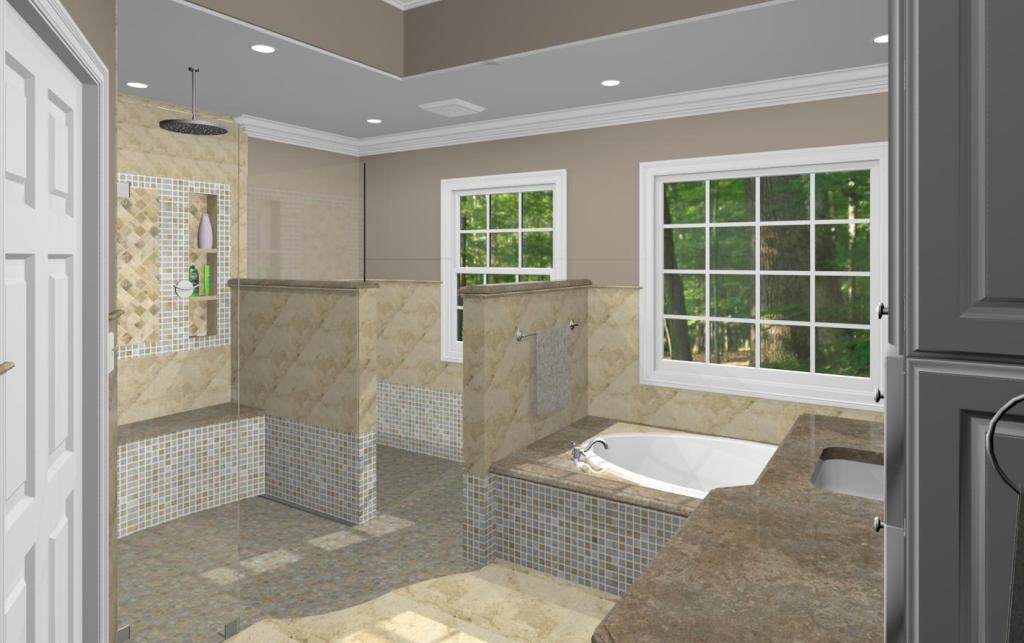 Master bathroom design options plan 3 design build pros for New master bathroom designs